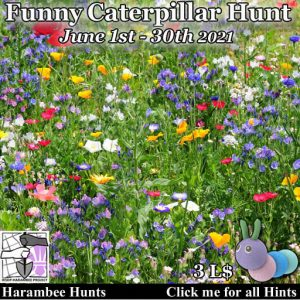 The Harambee Funny Caterpillar Hunt June 2021 Sign