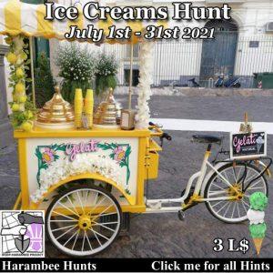 The Harambee Ice Creams Hunt July 2021 Sign