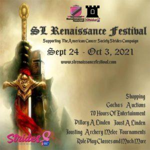 The SL Renaissance Festival 2021 Sign