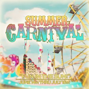 The Summer Carnival June 2021 Sign