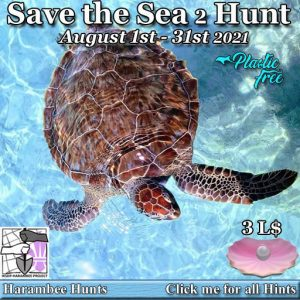 The Harambee Save the Sea 2 Hunt August 2021 Sign