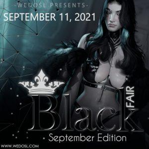 The Black Fair SEPTEMBER 2021 Sign