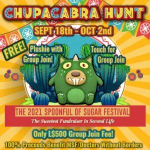 The SOS CHUPACABRA HUNT September 2021 Sign
