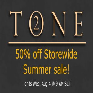 The TONE 2 Summer Sale 2021 Sign