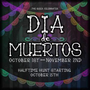 The Dia de los Muertos October 2021 Sign