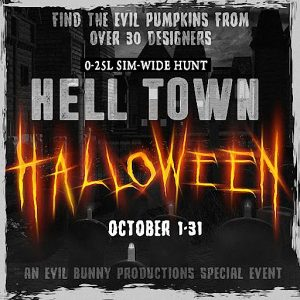 The Hell Town Halloween Hunt October 2021 Sign