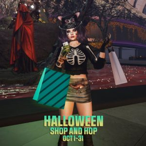 The Halloween Shop and Hop October 2021 Sign