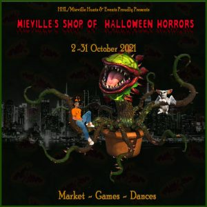 The Mieville's Shop of Horrors October 2021 Sign