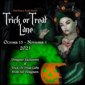 The Trick Or Treat Lane October 2021 Sign