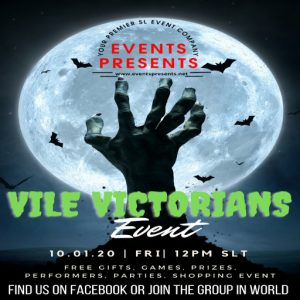 The Vile Victorians Event October 2021 Sign