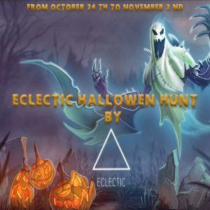 The Eclectic Halloween Hunt October 2021 Sign