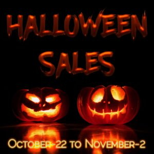 The Halloween Sales October 2021 Sign