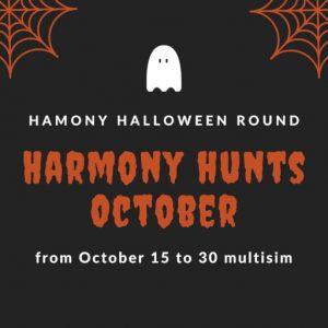 The Harmony Hunts Halloween Round October 2021 Sign