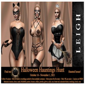The LEIGH Halloween Hauntings Hunt October 2021 Poster