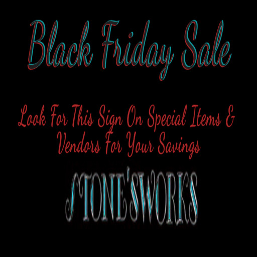 The Stones Works Black Friday 2021 Sign