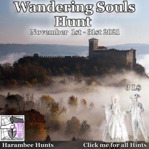 The Wandering Souls Hunt November 2021 Sign